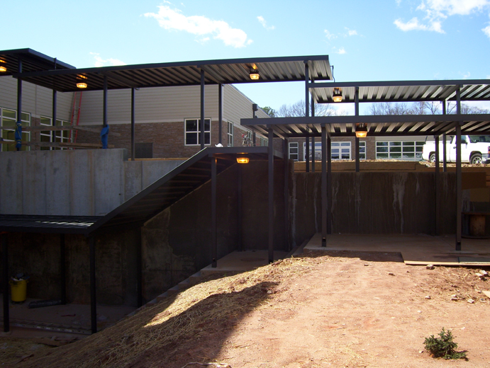 Extruded Aluminum Covered Walkways   Walkway Canopies