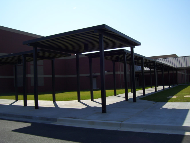 Metal Covered Canopies : Extruded aluminum canopy