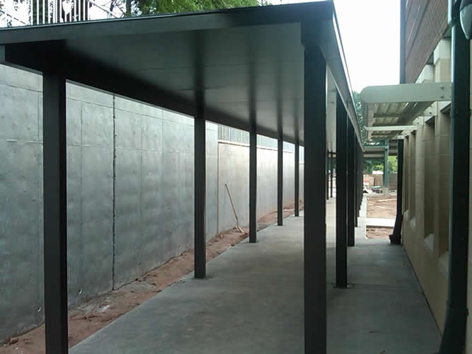 Metal Covered Canopies : Extruded aluminum covered walkways walkway canopies