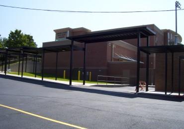 Customized Walkway Canopy at School