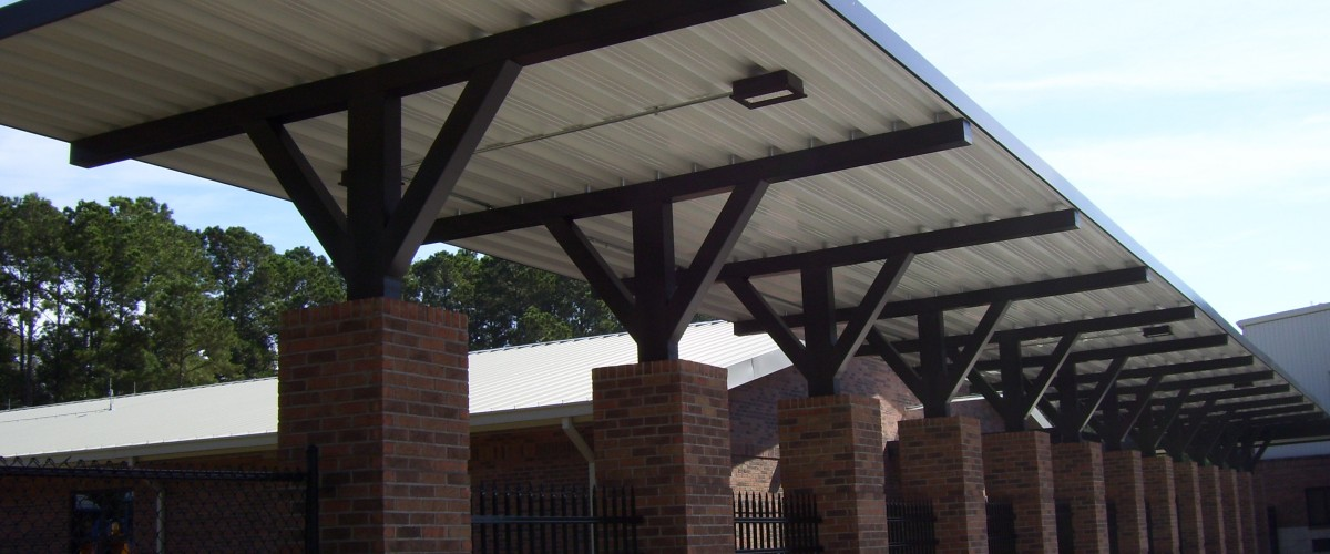 Covered walkways for K-12 schools by leading manufacturer