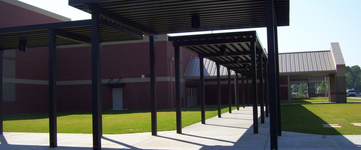 school walkway cover