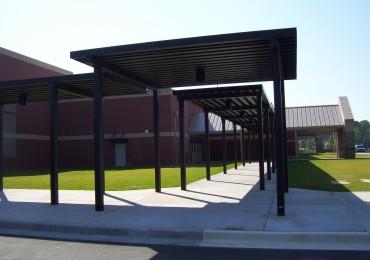 school walkway cover