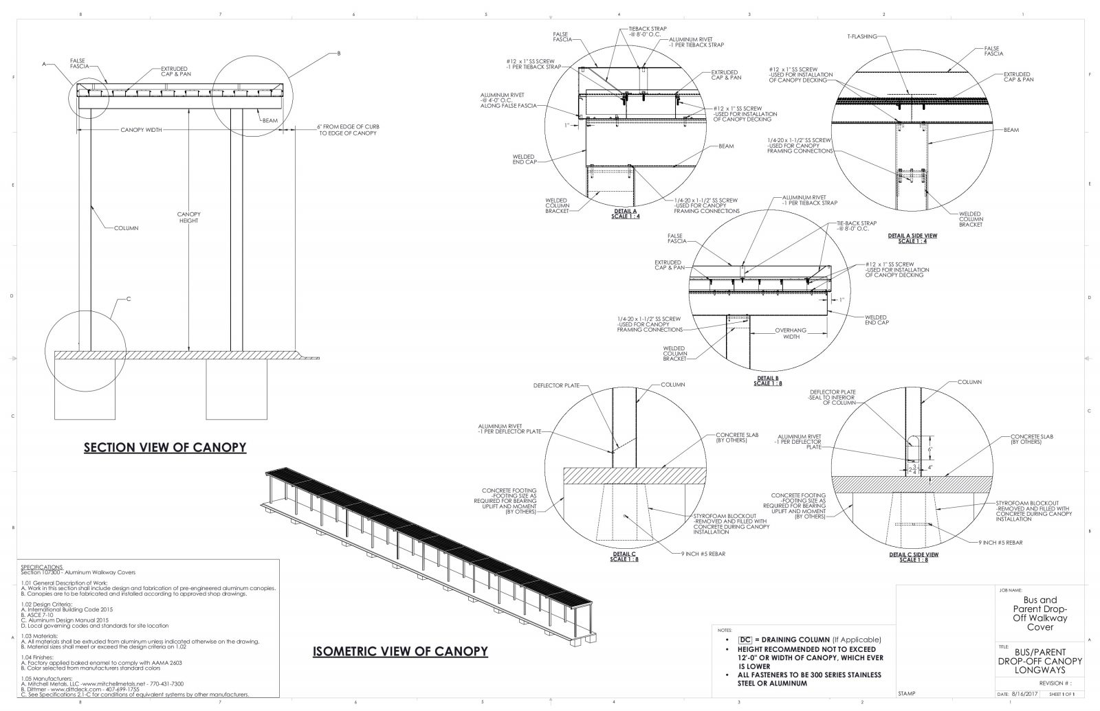 Covered Walkways For Schools Download School Canopy Cad