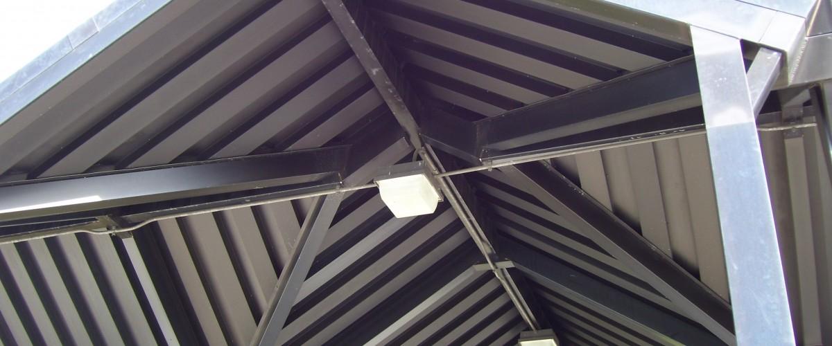 Aluminum canopy finishes