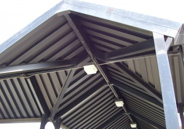 Aluminum canopy finishes