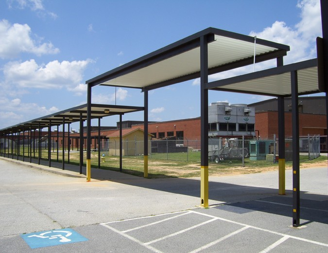 & School Canopies | Covered Walkways for Schools | Mitchell Metals