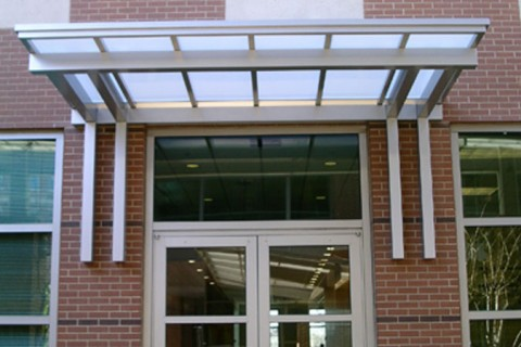 Entrance u0026 Overhead Supported Canopies & Overhead Supported Canopy | Entrance Canopies | Mitchell Metals