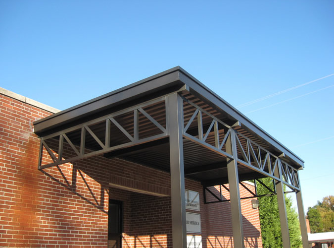 canopy finishes, aluminum canopy projects
